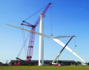 Research center erects new wind turbine