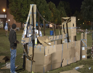 Students shack up for charity