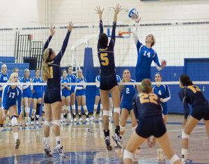 Volleyball sweeps French, off to best start in history