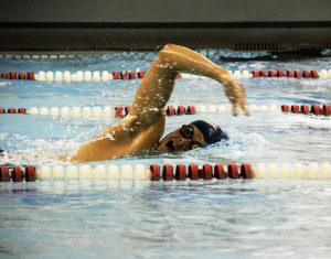 Men wrangle Gators in the pool with 228-70 win