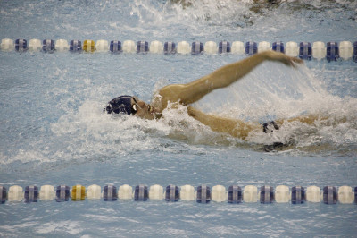 No. 16 men swimmers fourth, women sixth at conference championships