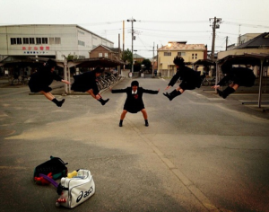 "From the weird files: Japanese teenagers reenact ""Dragon Ball"" moves, prepare to save earth's future"
