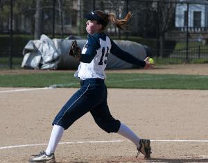 Softball splits with No. 5 Trine