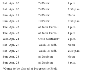 Englander annouces changes to end of season schedule