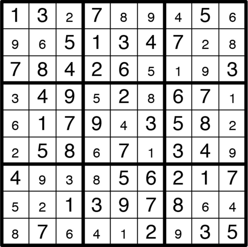 Below are the answers for the crossword and sudoku puzzles on the fun