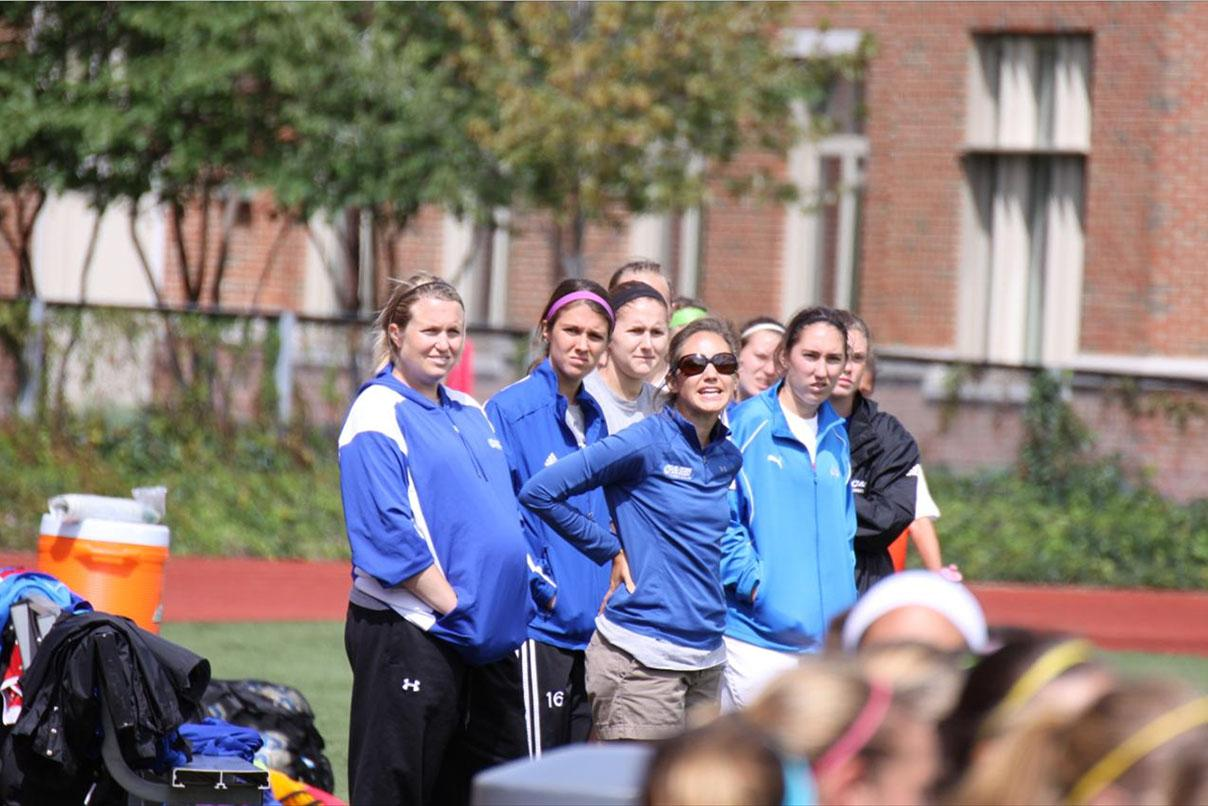 Tiffany Crooks (pictured center), lead the 2012 Spartan women's soccer team to a .556 season.