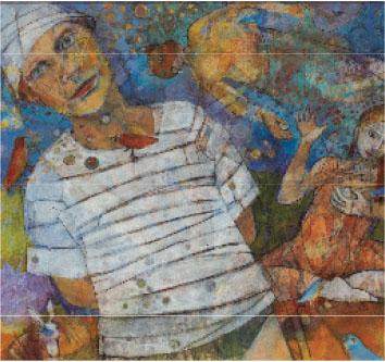 "Beth Nash, artist of the above painting, will be featured in the Lakeland Community College exhibition ""From WOMAN.""  The Gallery@MSASS is one of many participating spaces and is displaying pieces from Melinda Plask and Bernadette Glorioso."
