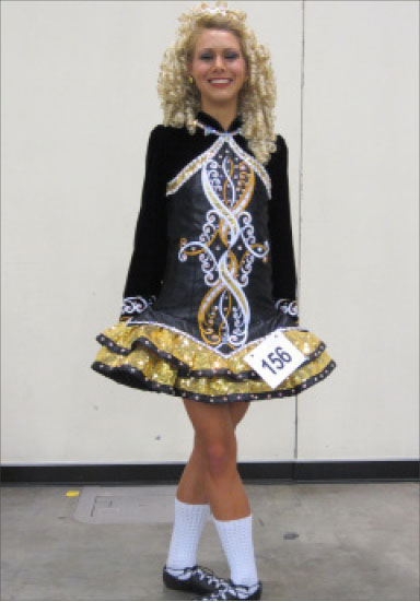 Sophomore biology major Ellen Kuerbitz will be traveling with her team to the World Irish Dancing Championships in London, England next month.