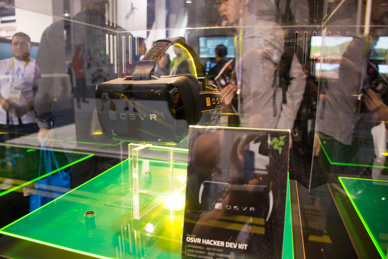 Razer demoed their newly announced OSVR headset at CES