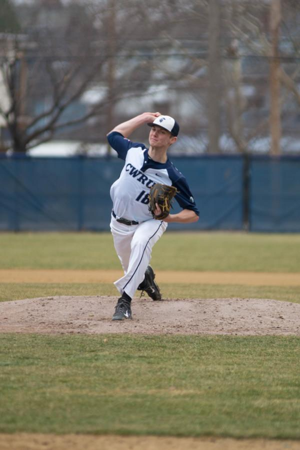 Senior+Pitcher+Andrew+Rossman+prepares+to+pitch+during+the+Spartan%E2%80%99s+game+against+Otterbein+last+week.%0A