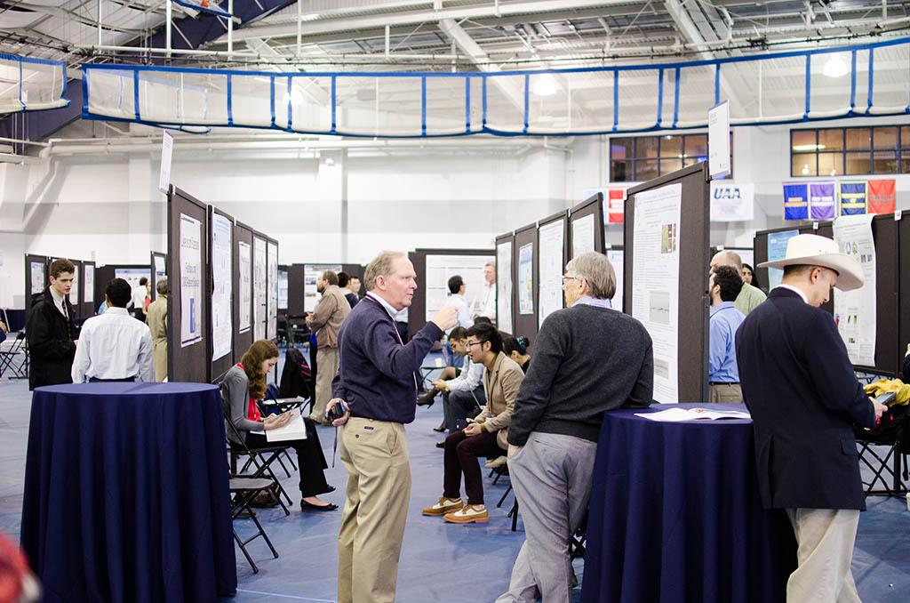 More than 400 projects were displayed at this year's Research ShowCASE in the Veale Athletic Center.