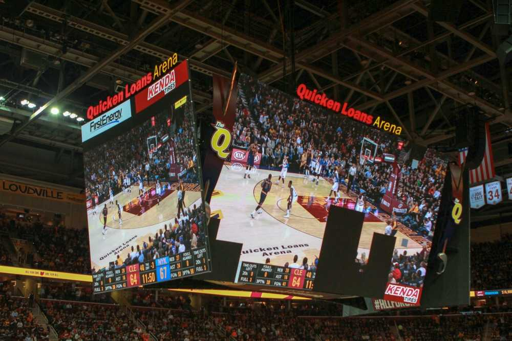 Quicken Loans Arena hosted the Cavs vs. Warriors game on June 16.