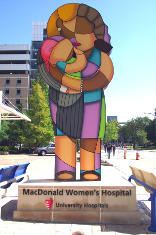 New statue guides patients to the MacDonald Women's Hospital