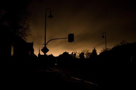 CWRU's campus goes dark