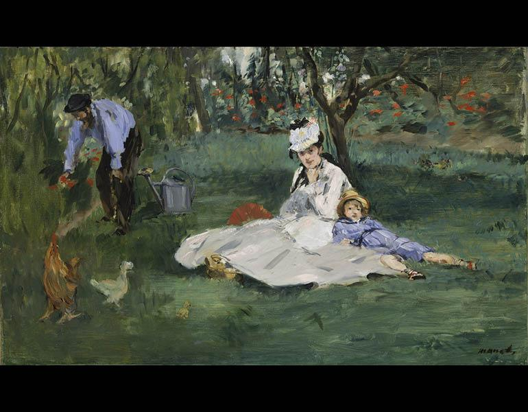 The+Edouard+Manet+painting+%22The+Monet+Family+in+Their+Garden+at+Argenteuil%22+is+part+of+the+temporary+exhibition.