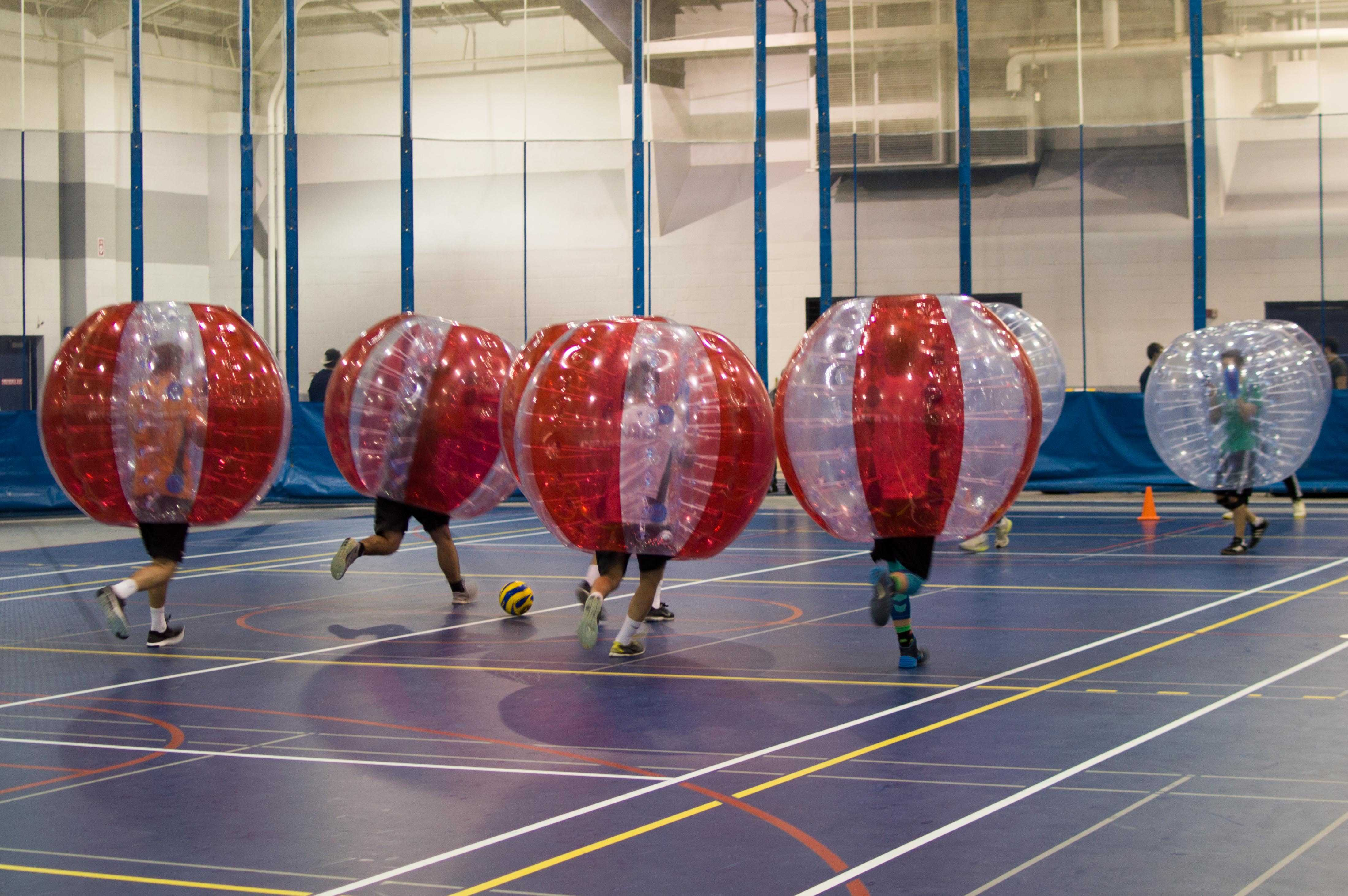 UPB brought the fad sport of Bubble Soccer to campus for a casual, fun, and bouncy take on the classic sport.