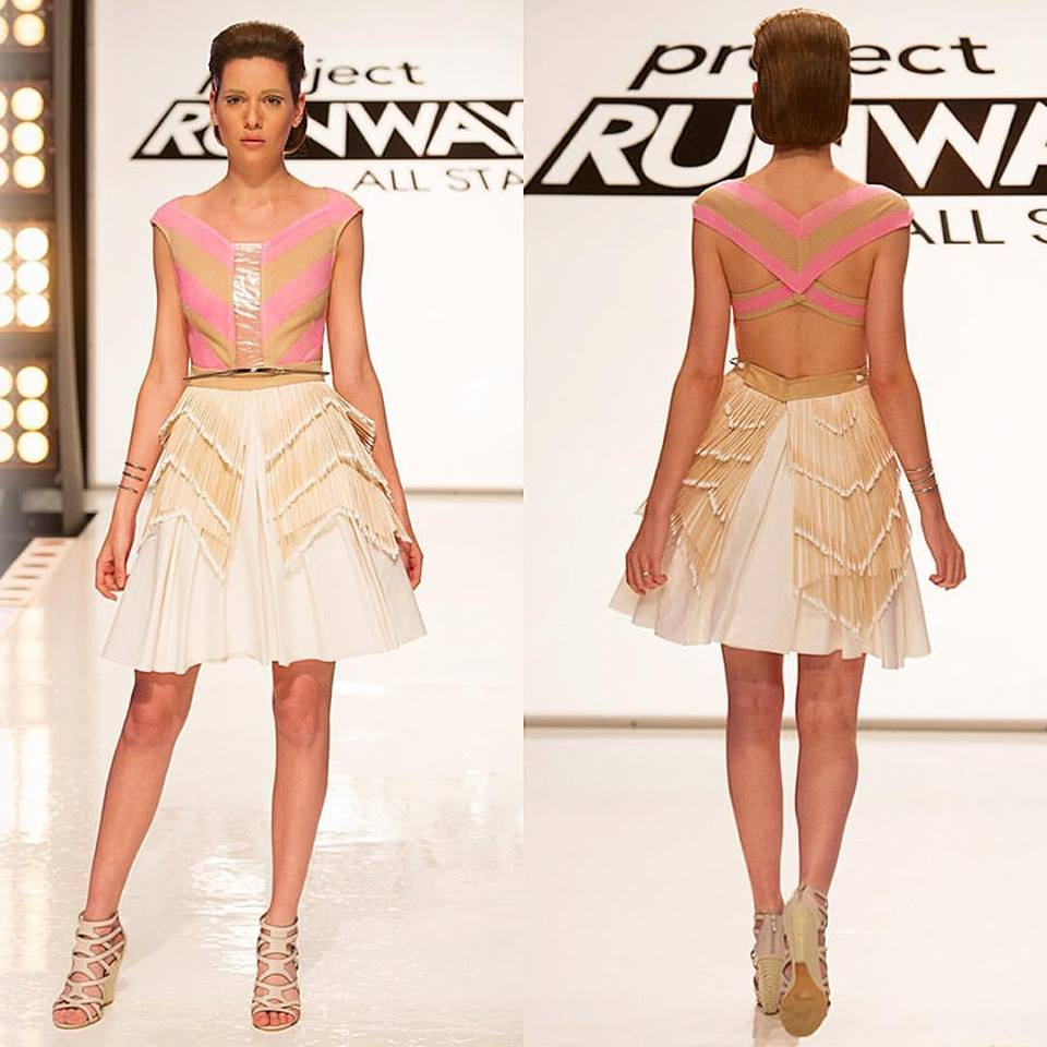 A Valerie Mayen look from Project Runway All Stars made from EMT supplies.