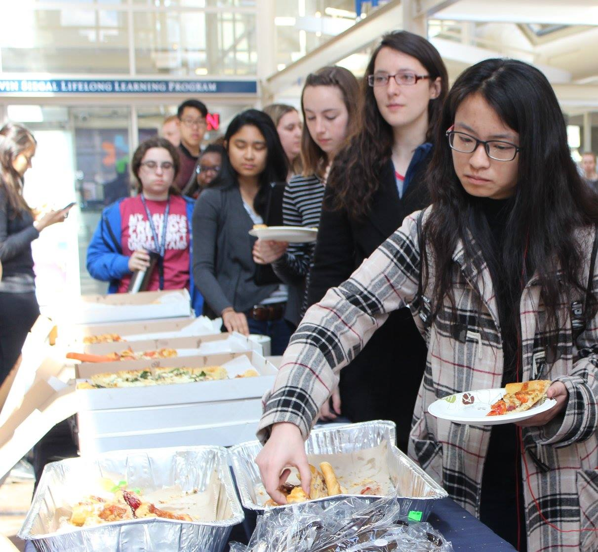 The Food Recovery Network co-sponsored Thwing Tuesday, and served food that would have otherwise been wasted.