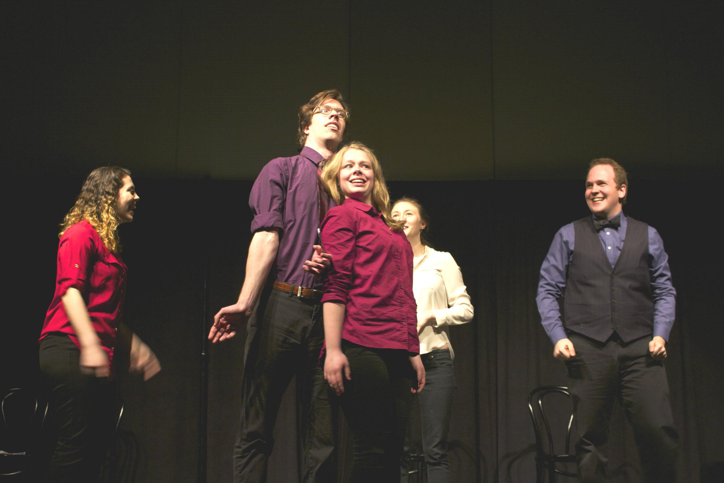 Improvment performed alongside other improv groups from around the state at the Lake Effect Improv Comedy Festival.