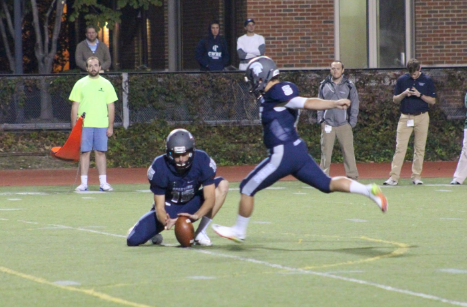 Kicker Ben Carniol attempts an extra point during a game earlier this season. Carniol has converted 35 of his 39 extra point attempts this year