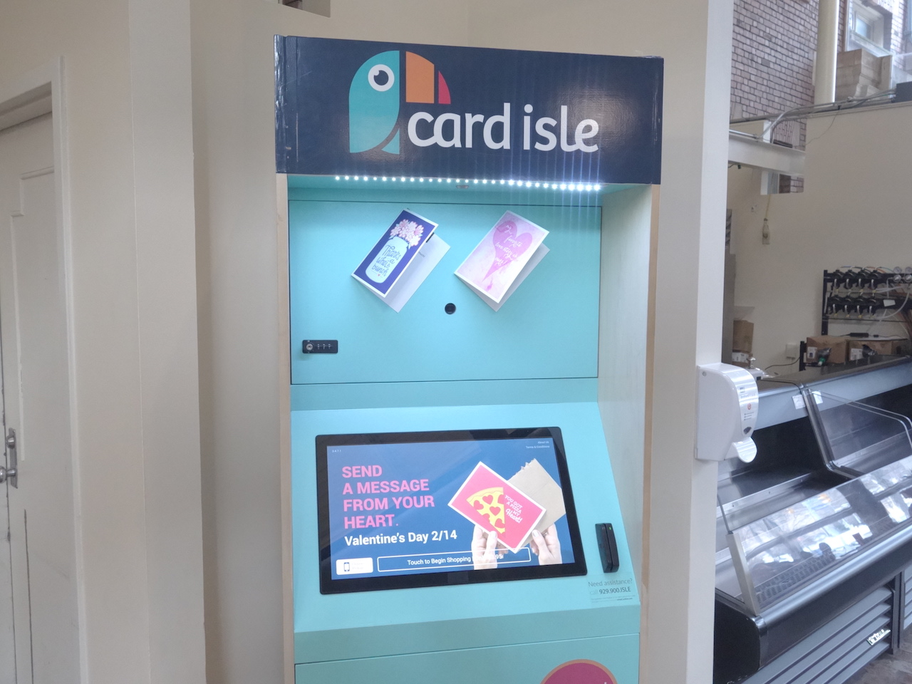 Kiosk For Personalized Greeting Cards Now In Thwing The Observer