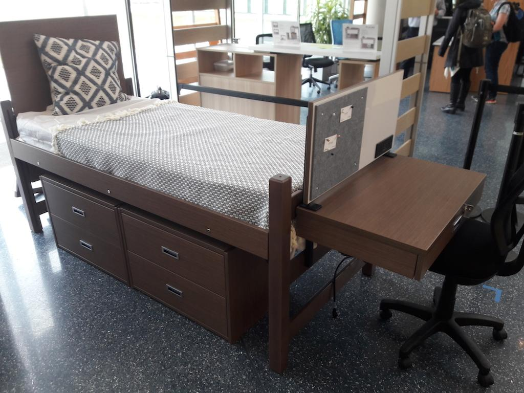 University Housing invited four furniture vendors to campus on Feb. 21 and Feb. 22 to showcase their dorm furniture. Starting this summer, several buildings in the South Residential Village will receive new furniture, while new furniture will be purchased in the future.