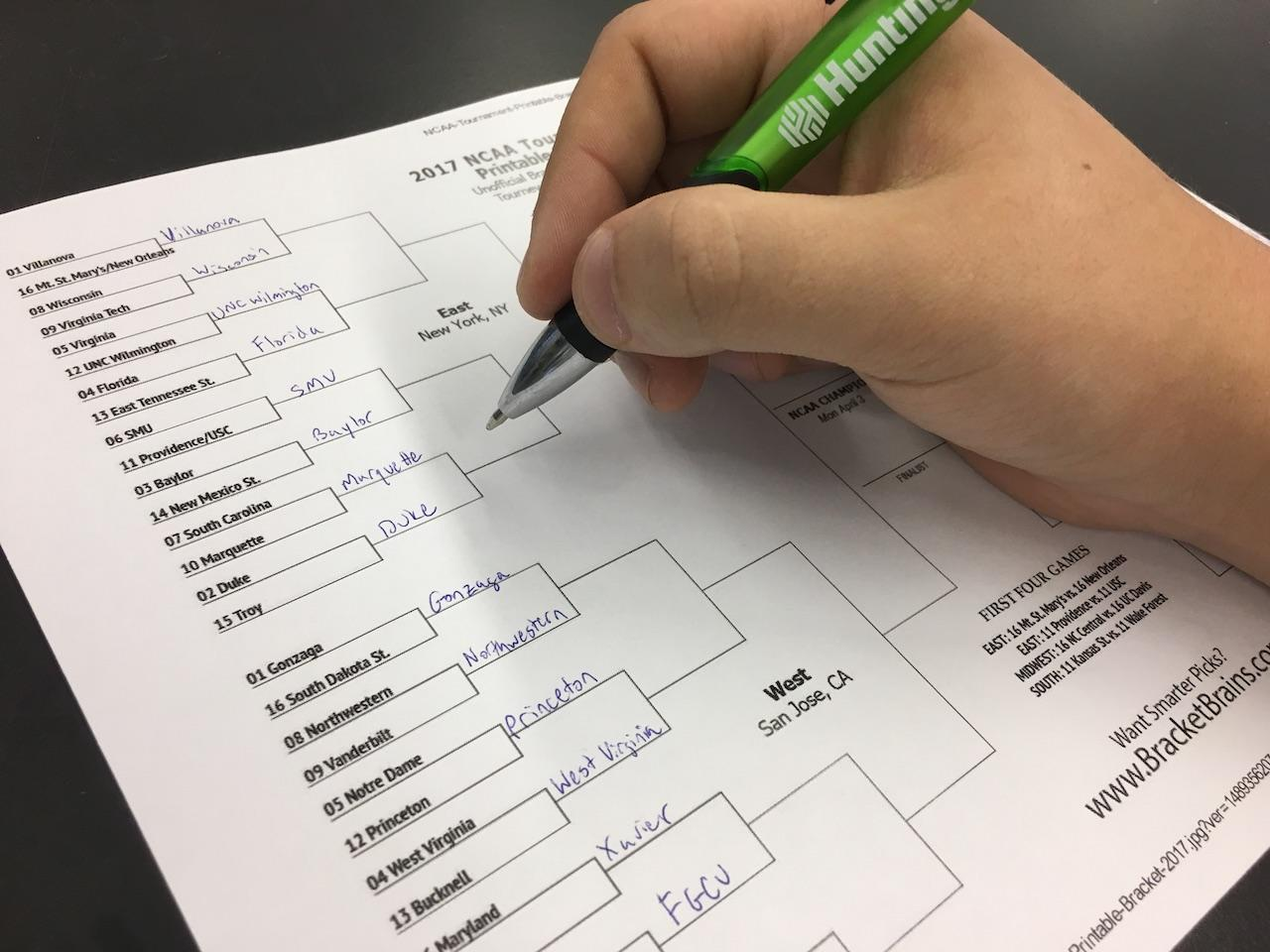 Millions of people filled out brackets this year and billions of dollars will be wasted watching the games.