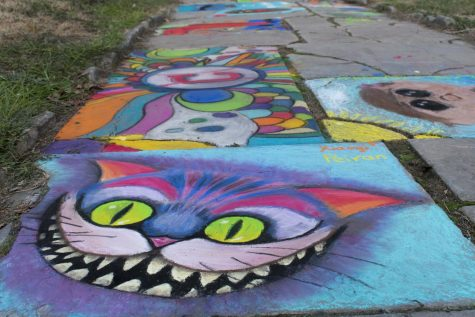 CMA sidewalk gallery features chalk fest