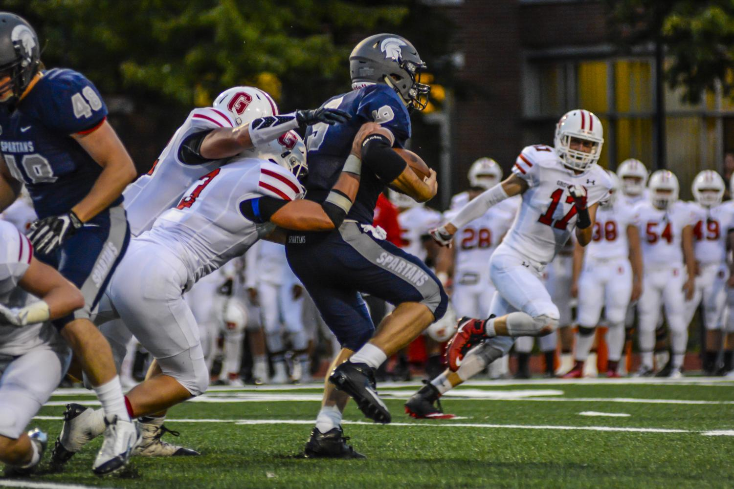 The Spatants football team scored 63 points en route to their sixth straight win.