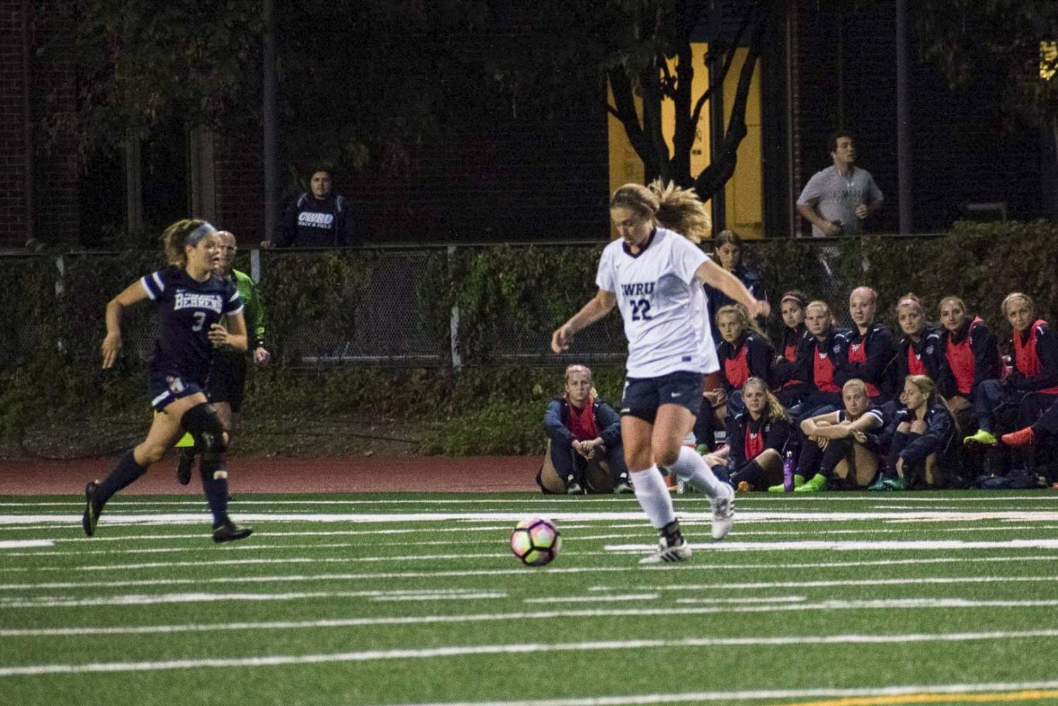 The women's soccer team took on the No. 1 and No. 2 teams in the country, losing both conferece matches.