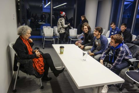 Margaret Atwood speaks in sold-out Writers Center Stage