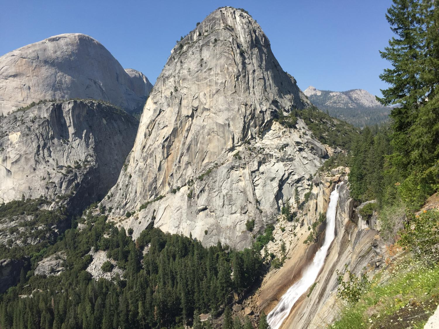 Pushing yourself can have big rewards. Seeing this beautiful view of Yosemite National Park would not have been possible without a tough climb.