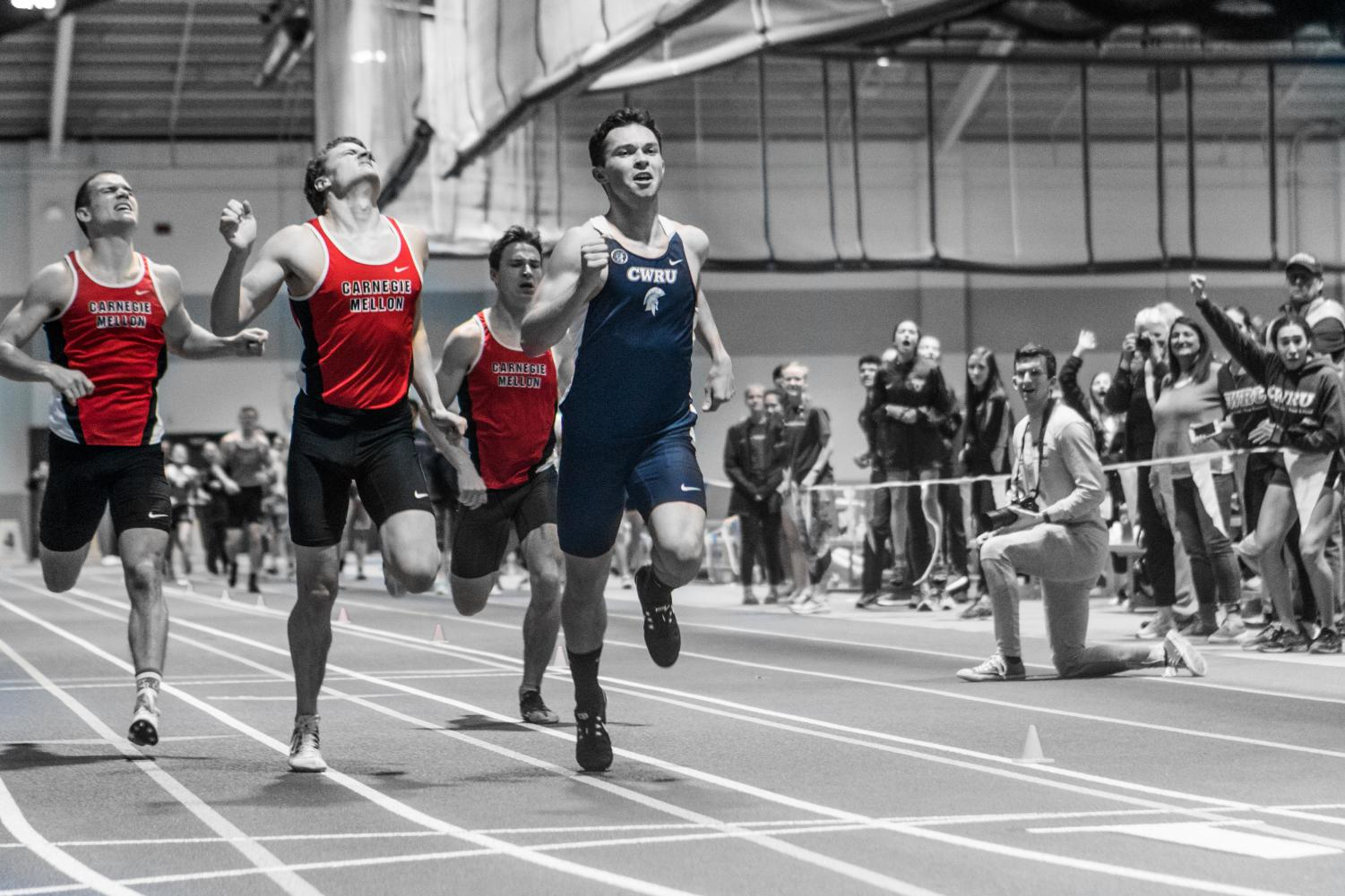 Despite strong efforts from a plethora of team members, the CWRU track and field teams lost a close dual meet to archrival Carnegie Mellon University.