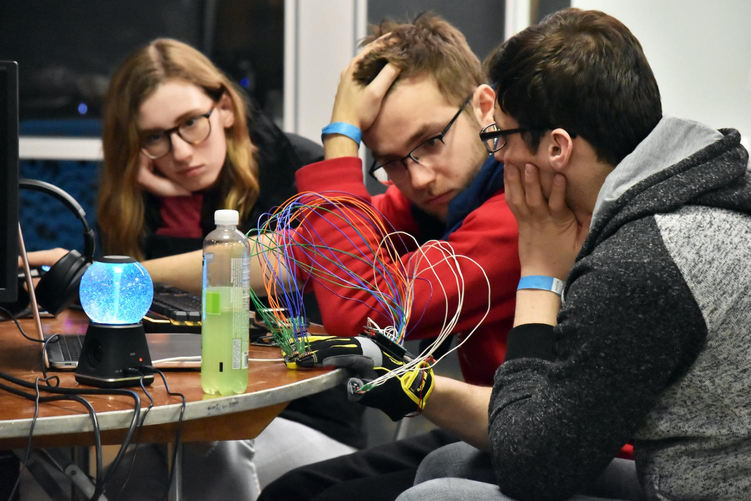 HackCWRU brought together more than 350 students for a 36-hour coding and engineering competition. Participants developed technological skills from four categories: finance, civic, health or maker.