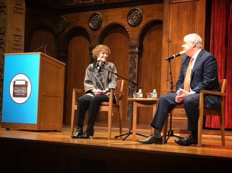 Best selling authors Judy Blume and Daniel Handler meet at Maltz