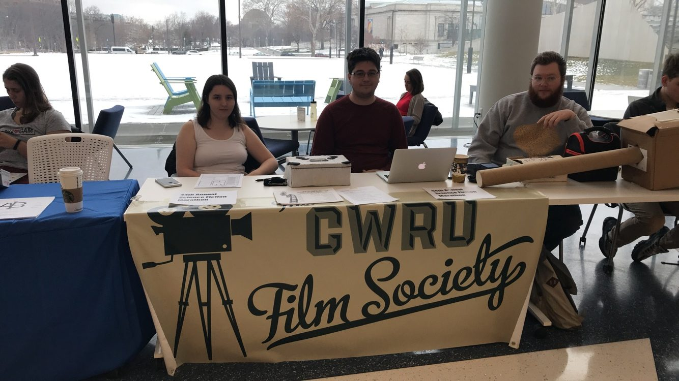 Members of the Film Society selling tickets in the Tinkham Veale University Center earlier this week.