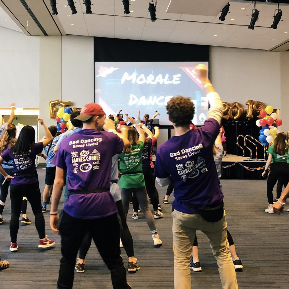 A high energy environment greeted participants of this year's Dance Marathon. During the annual event, students raise money and commit to 12 hours of dancing.