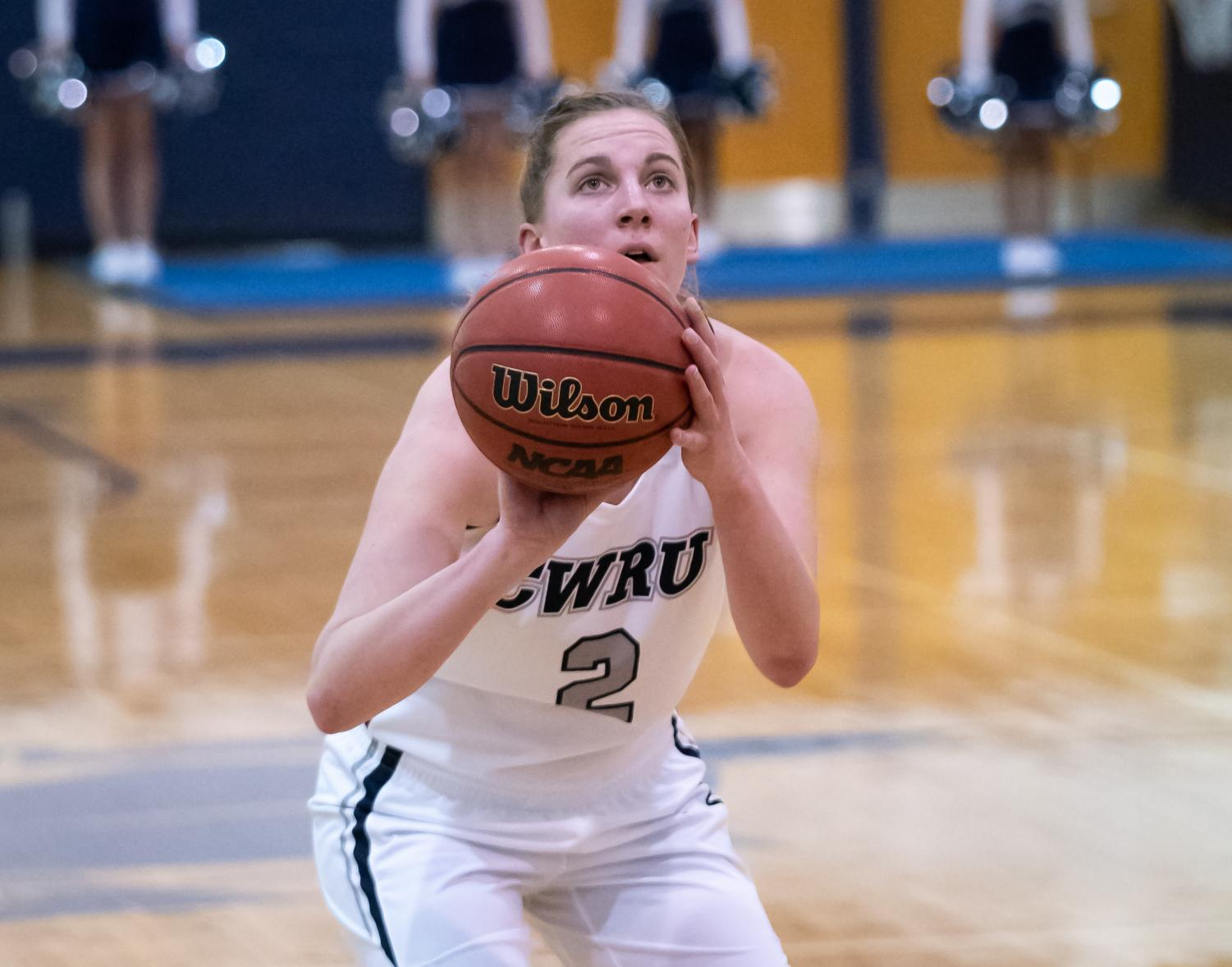 Graduate student Kara Hageman recorded 20 points and fourteen rebounds, hitting the 1400 career points mark when the women's basketball team competed against University of Rochester.