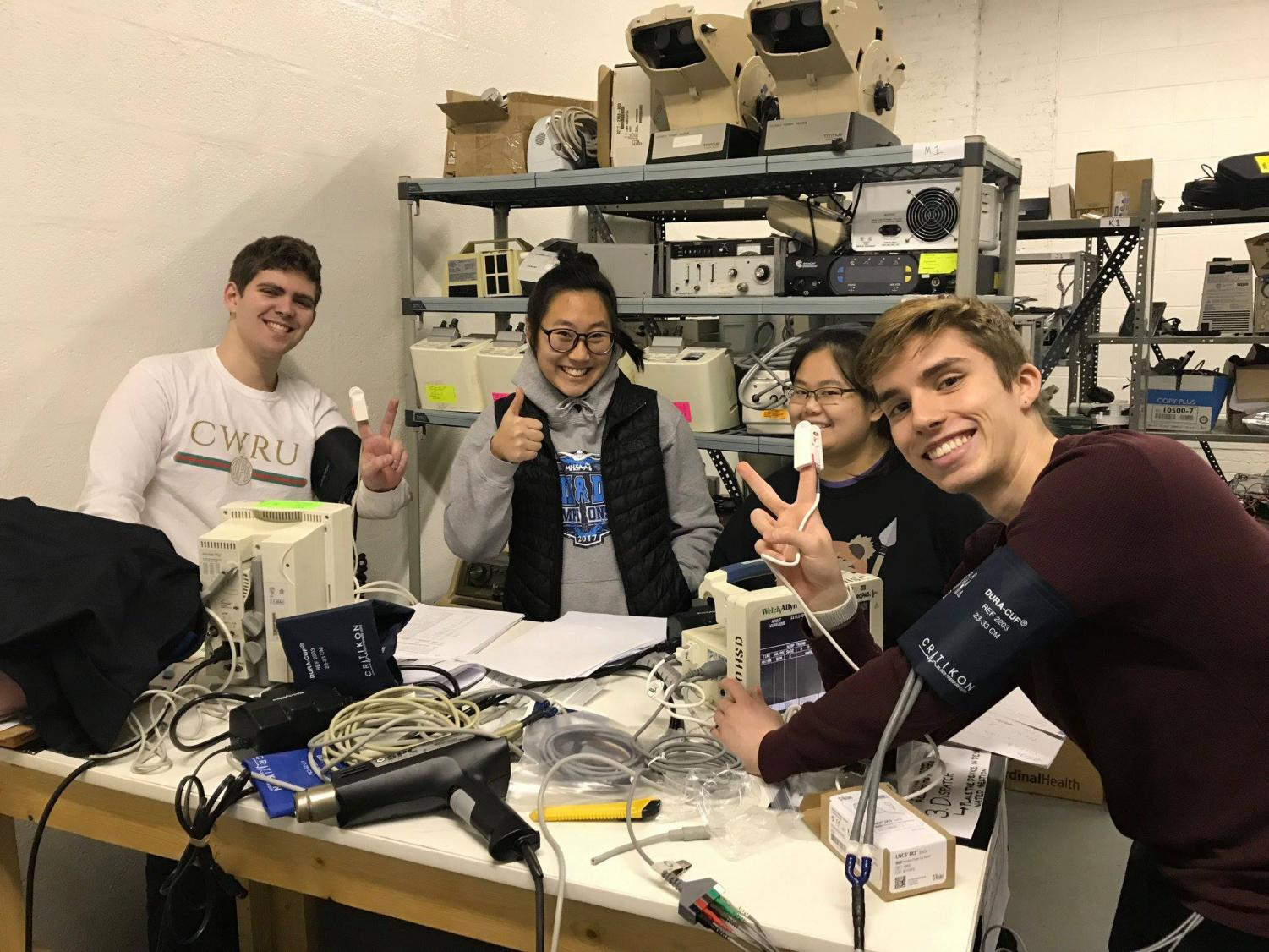 CWRU Medwish volunteers repaired over $170,000 worth of medical equipment for underprivileged hospitals.