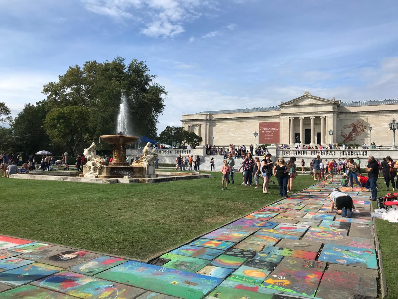 CMA sidewalk chalk done by the public