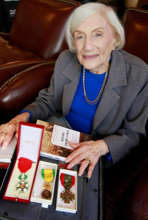Marthe+Cohn+with+medals+awarded+by+the+French+military+for+her+bravery+and+espionage+activities+against+the+Nazis+in+WWII.