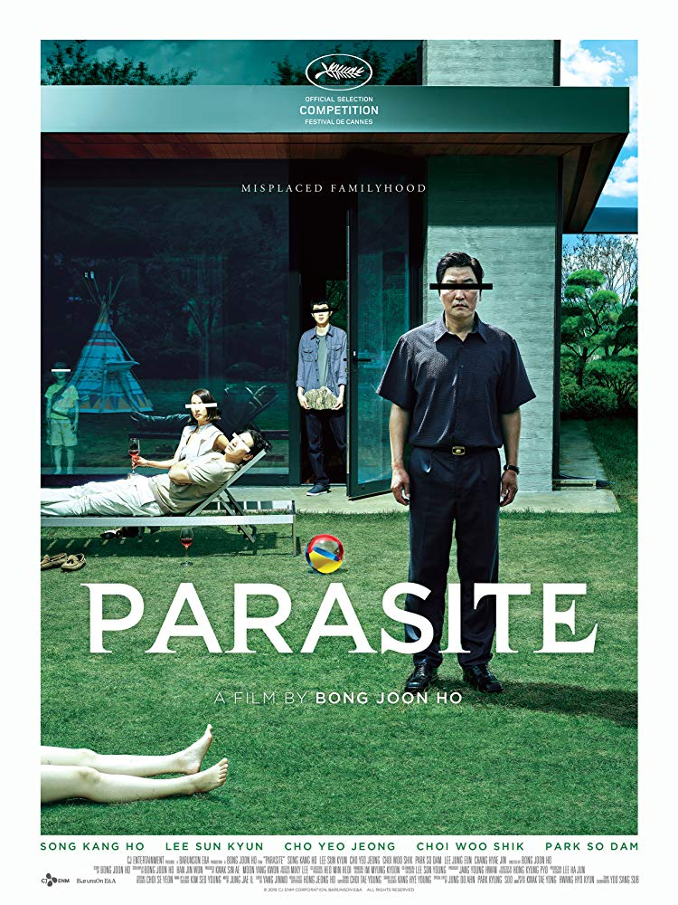 """Parasite,"" directed by Bong Joon-Ho, offers an anaylsis of class structures, critquing how the relationship between the upper and lower classes is parasitic. Courtesy of Wikipedia"