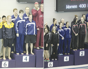 Men finish 3rd, women 7th at UAA Swimming and Diving Championships