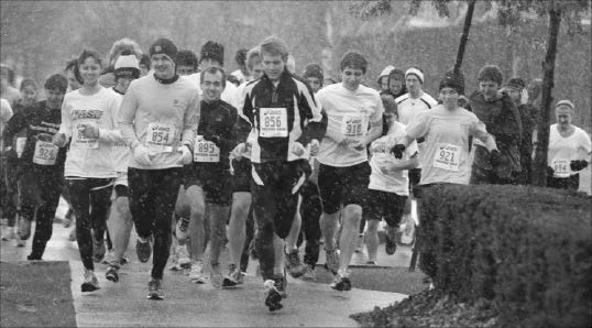 Runners brave hail and rain for hole in the wall camps