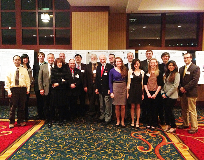 Undergraduate students and faculty members from the Civil Engineering department attended the Engineers Week Banquet last Thursday.