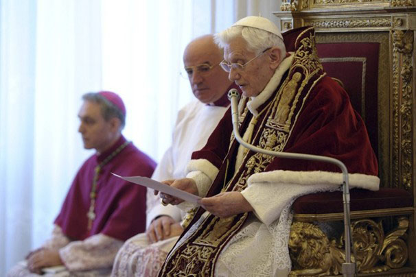 Pope Benedict XVI announced last week that he would be leaving the papacy, the first to do so since Pope Gregory XII.