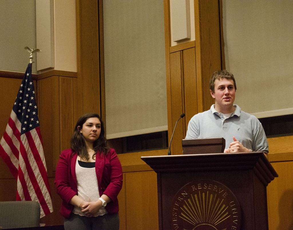 The USG Vice President of finance, Colin Williams, speaks at a recent