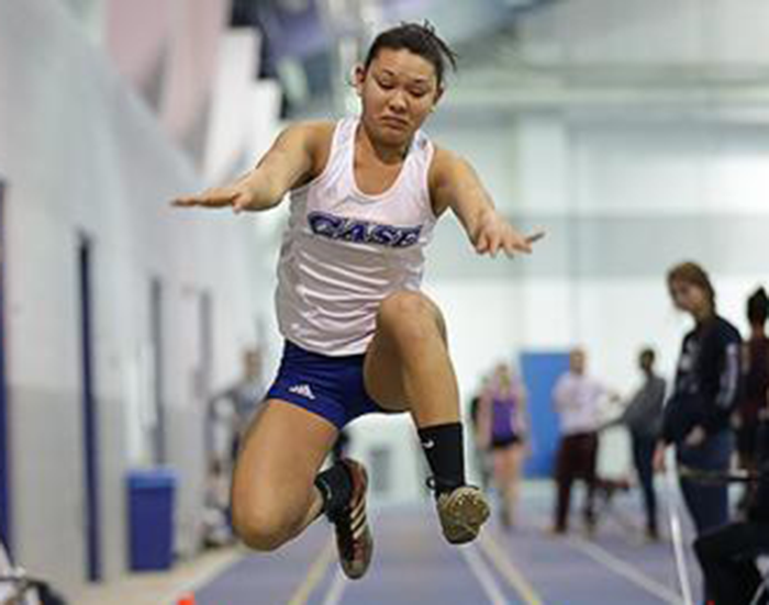 Junior Thenessa Savitsky set a program-record in the triple jump an earned a third place finish as the Case women finished seventh in the UAA Indoor Track and Field Championship.