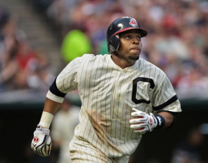 Indians catcher Carlos Santana will be one of the core members of the Indians line up. Santana batted .252 last year with 18 home runs and 76 RBIs.