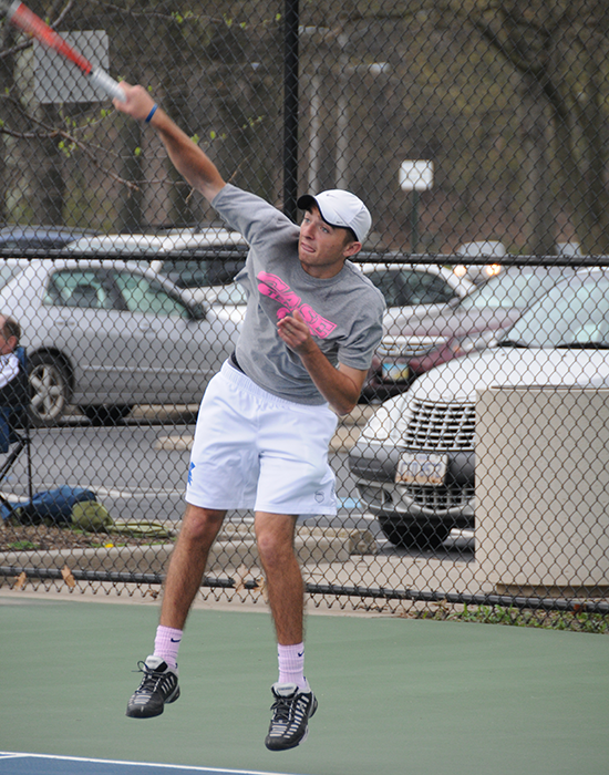 Sophomore Will Drougas went 5-3 over Spring Break playing mainly in the second singles spot against seven ITA Top 30 teams.